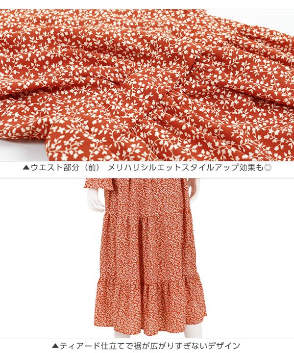カシュクール小花柄ワンピース [E1989]