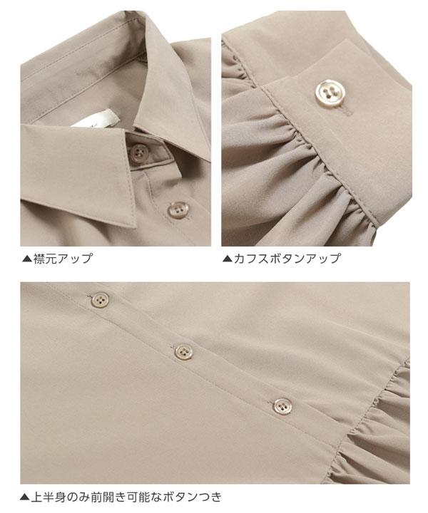 ボリュームティアードシャツワンピ [E2020]
