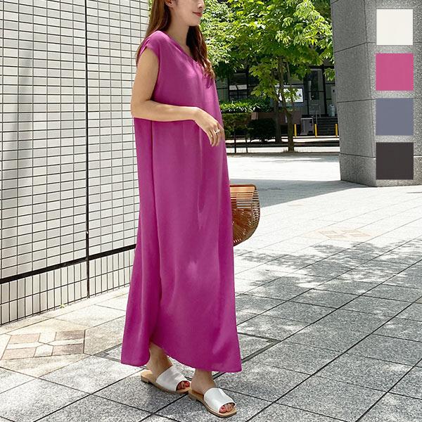 神戸レタス フレンチAラインワンピース [E2458]