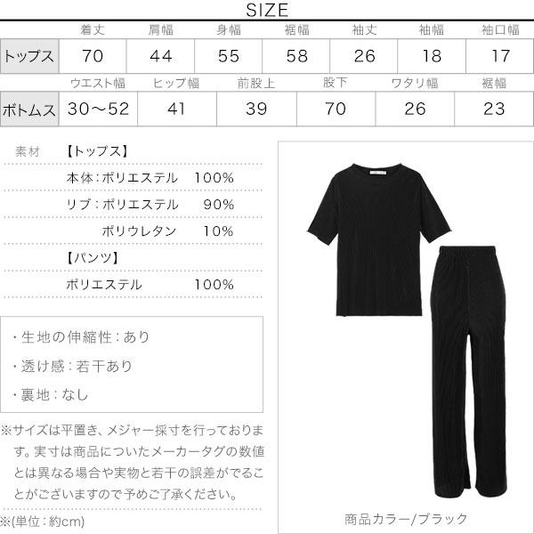[ 2点セット ]プリーツセットアップ [E2516]のサイズ表