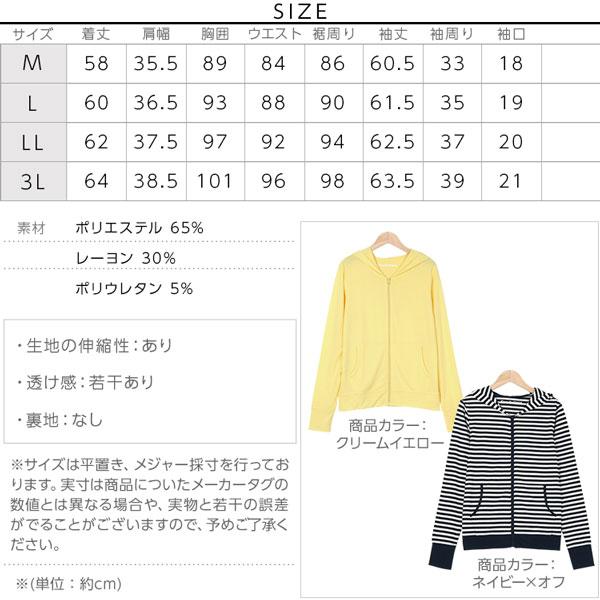 【CandyCool】パーカー [H0457]のサイズ表