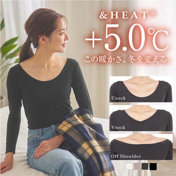 【&HEAT】発熱ロングTシャツ [H500]