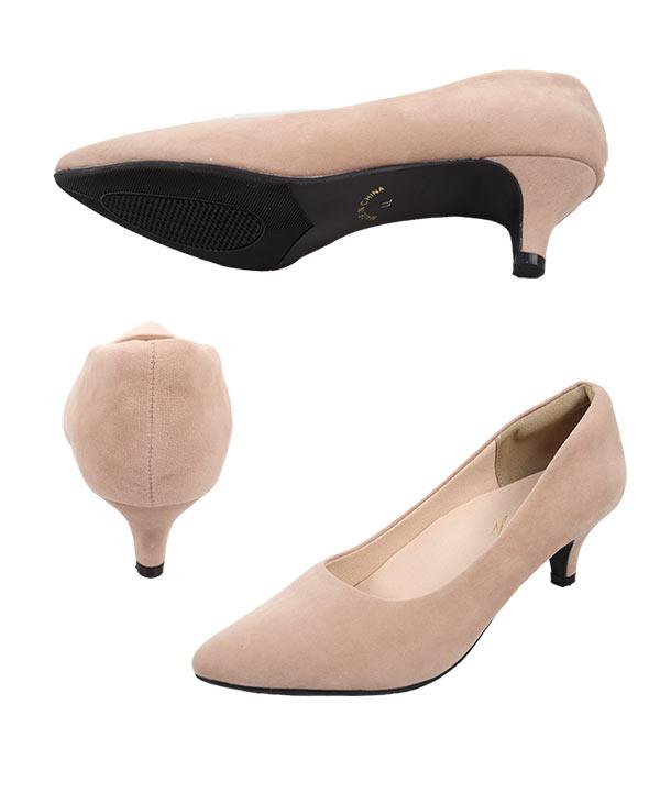 機能系5cmヒール☆ポインテッドトゥパンプス [I1040]