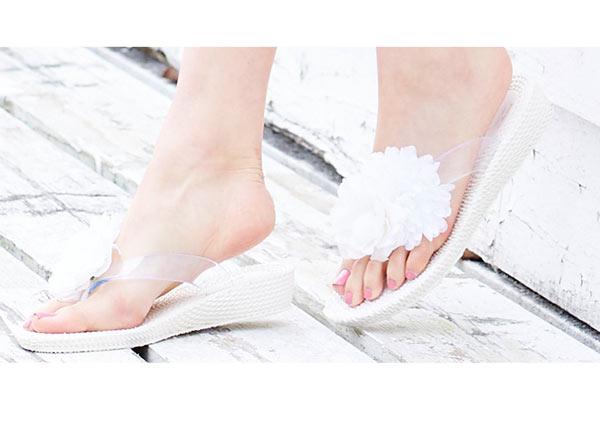 BIGフラワーモチーフ☆ビーチサンダル [I1255]
