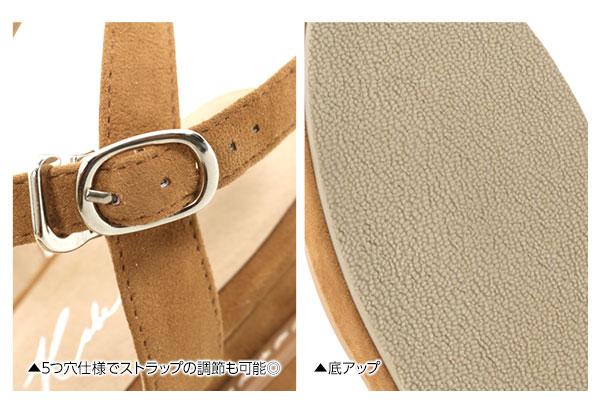 6color☆2段底ストラップサンダル [I1533]