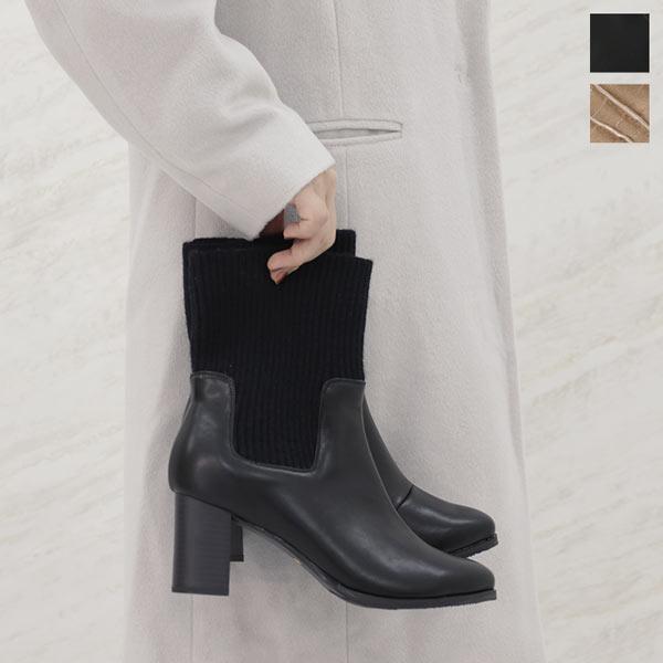 ニット切替ブーツ [I1957]