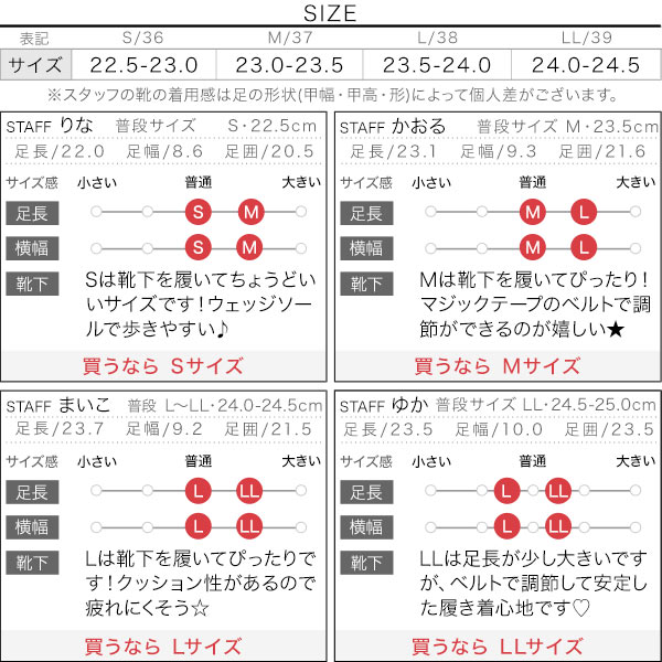 3ベルトスポサン [I2068]のサイズ表
