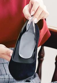 靴脱げ対策かかとジェルクッション [J526]