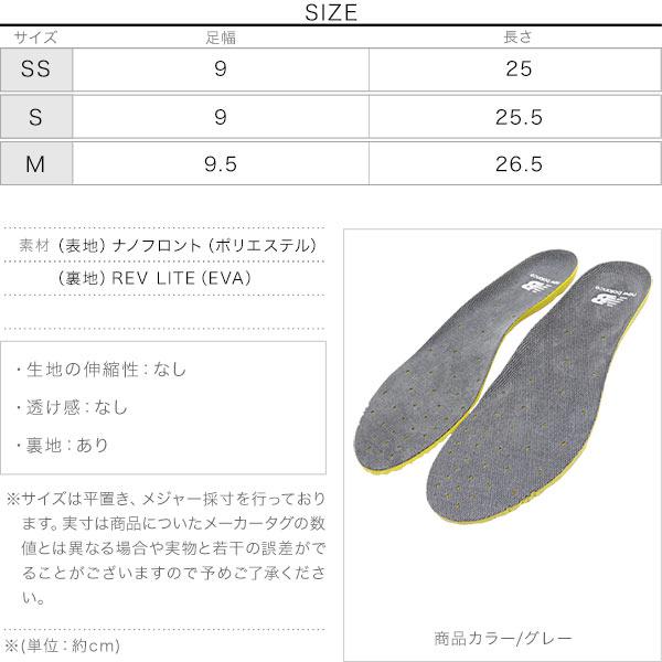 [ NEWBALANCE ]ライトウェイトインソールRCP130 [J732]のサイズ表