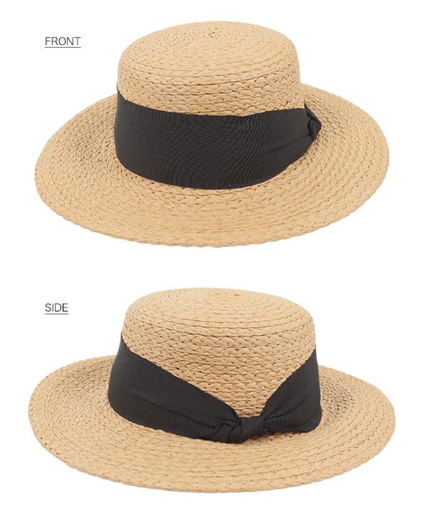 UVワイドリボンカンカン帽 [J913]