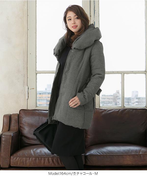中綿ロングコート [K514]