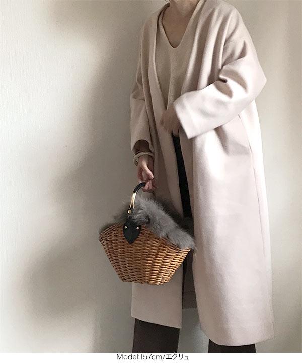 ≪10/29(火)18:00~販売開始予定≫【大人気ブロガーyokoさんコラボ】ノーカラーコート [K723]