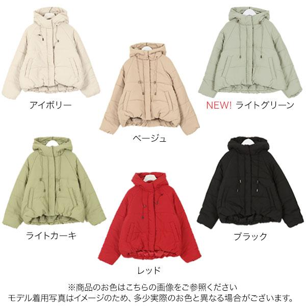 フード付き中綿ショートコート [K809]