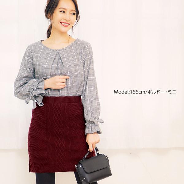 選べる★起毛裏地ニットタイトスカート [M1965]