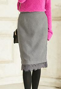 裾レースタイトスカート [M2021]