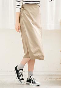 レース裏地ラップ風デザインタイトスカート [M2106]