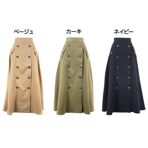 バックウエストゴム☆マキシトレンチスカート [M2163]