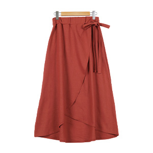 ≪サマーセール!!≫リネンタッチラップスカート [M2223]