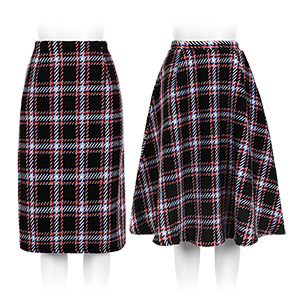 ≪クリアランスセール!≫チェックツイードスカート [M2256]