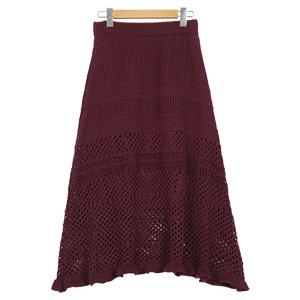 ≪クリアランスセール!≫編地切り替えニットマーメイドスカート [M2271]