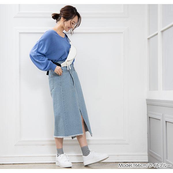 リメイク風デニムタイトスカート [M2311]