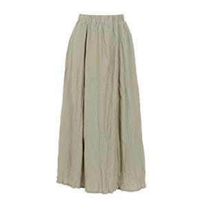 ワッシャーロングサテンスカート [M2501]