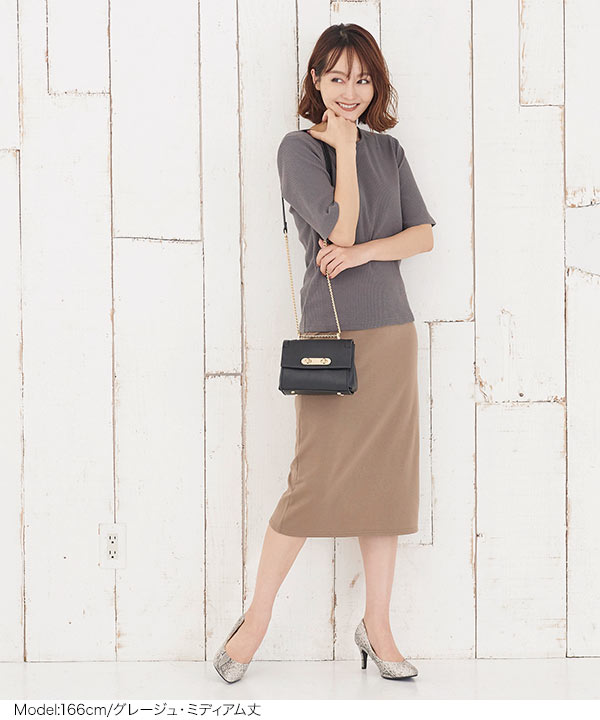選べる3丈ポンチタイトスカート [M2578]