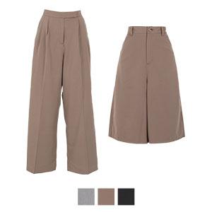 ≪SALE!!≫ワイドパンツ/キュロット選べるスーツパンツ [M2599]