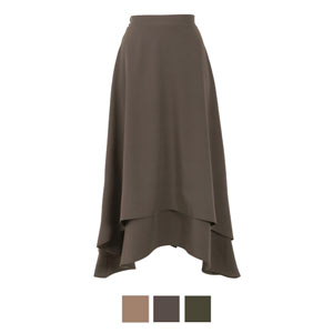 イレギュラーヘムスカート [M2631]