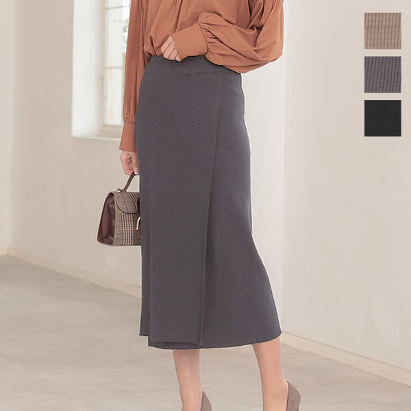≪セール≫ラップニットスカート [M2660]
