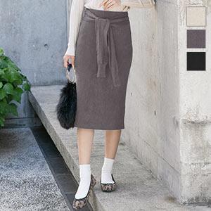 ウエストリボンタイトスカート [M2661]