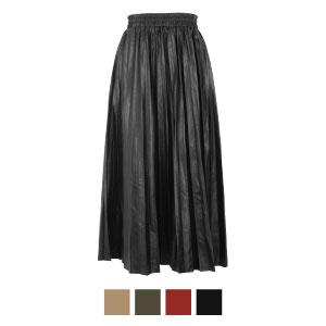 ≪SALE!!≫フェイクレザープリーツスカート [M2703]