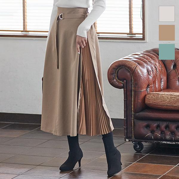 サイドプリーツフレアスカート [M2720]