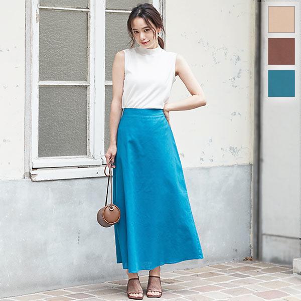 神戸レタス 綿麻セミフレアスカート [M2956]