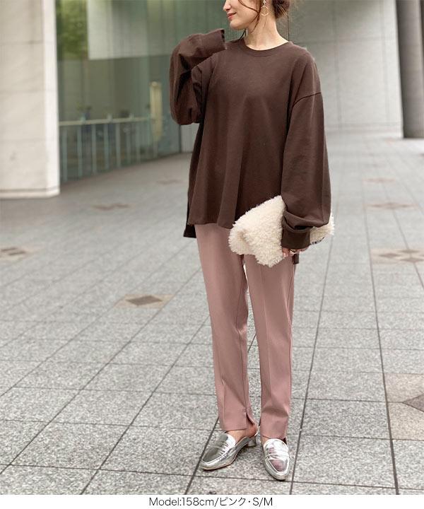 [Nagisaさんコラボ] ポケットフリル付き2wayテーパードパンツ [M3024]