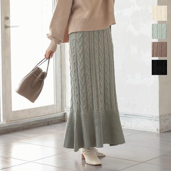 神戸レタス サイドボタンプリーツスカート [M3148]