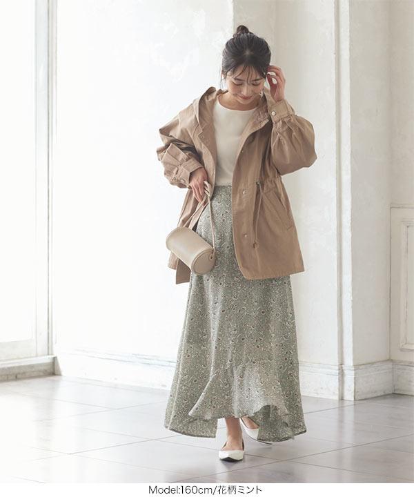 アシメ切り替えスカート [M3180]