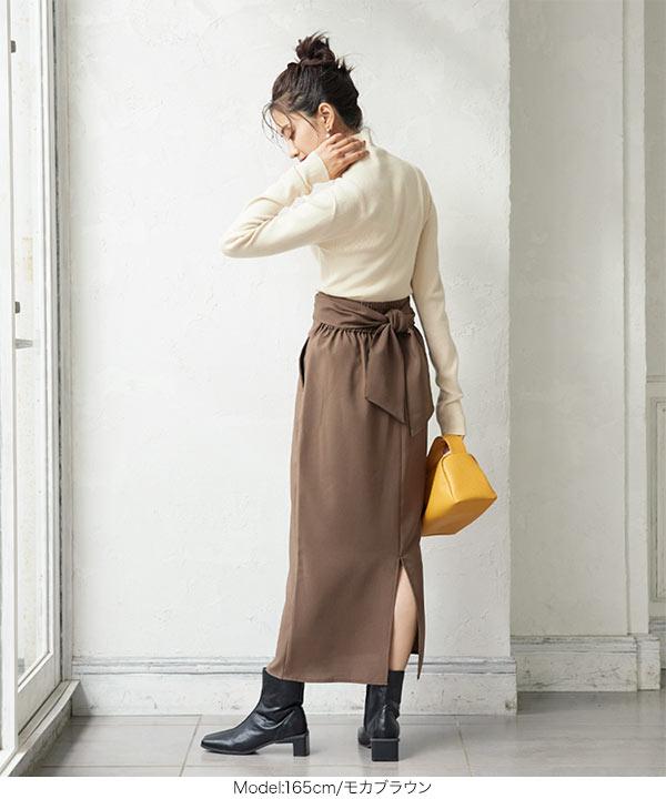 ウエストリボンストレートスカート [M3479]