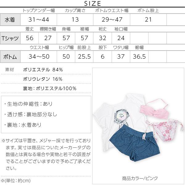 ≪ファイナルセール!≫【4点セット】体型カバー水着 [S166]のサイズ表