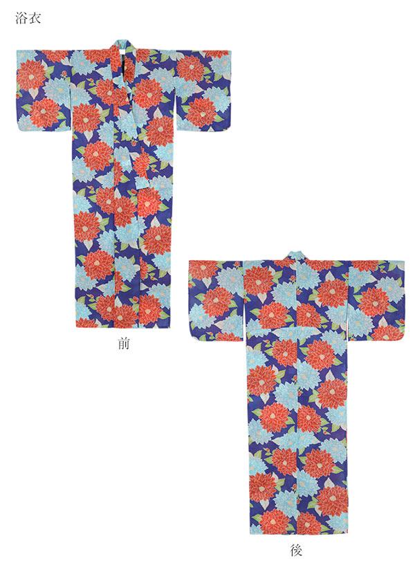[ゆかた/作り帯2点Set]華やか系夏恋浴衣 [X330]