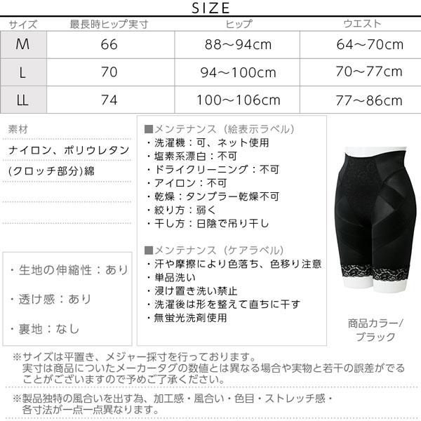 芦屋美整体骨盤スッキリショーツ [Y195]のサイズ表