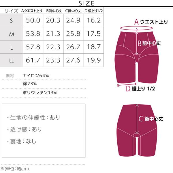 【ブラデリス】桃ソフトガードル(STEP2) [Y201]のサイズ表