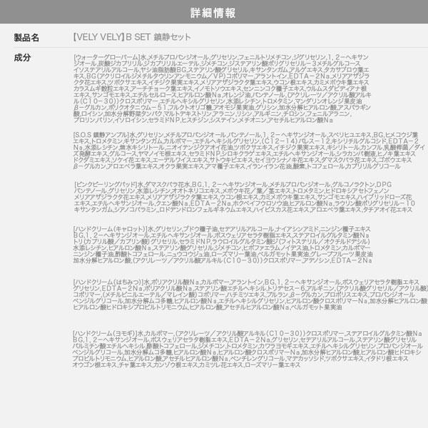 ≪セール≫【VELYVELY ブリーブリー】SET B キメ整えセット [Y815]のサイズ表
